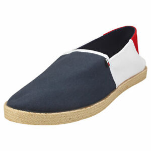 Tommy Jeans Essential Mens Red White Blue Espadrille Shoes - 10 US
