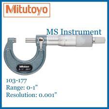 "Genuine Mitutoyo 103-177 Outside Micrometer 0-1"" Inch Imperial Australia Stock"