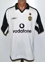 MANCHESTER UNITED CENTENARY 2001/2002 AWAY FOOTBALL SHIRT JERSEY UMBRO SIZE XL