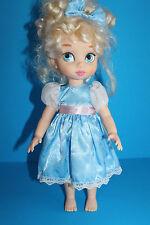 "Disney Animators Collection Cinderella Princess Doll 16"" Blue Dress"
