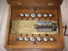 """Polyphon mit 12 Glocken Blechplatten 36cm Uhr 12 bells music box 14 1/2"""" disc"""