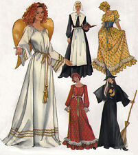 Witch Pilgrim Angel Pioneer Colonial ADULT COSTUMES | P-L | UNCUT Sewing Pattern