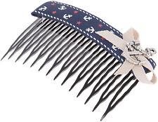 Sailor ETHA Anchor Anker Ribbon BOW Vintage HAARKAMM Hair Comb Rockabilly