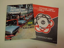 RCA Picture Tube Cathode-Ray Tube Catalogs (2) 1968 Storage Illustrated