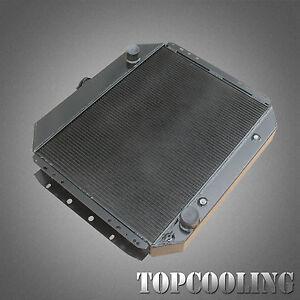For Ford F100 F250 F350 Truck Bronco V8 66-79 4Row Black Aluminum Radiator AT/MT