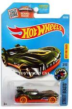 2016 Hot Wheels #203 Street Beasts Howlin' Heat error all small wheels Treasure