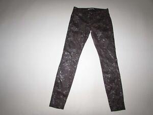Rich & Skinny Women's Legging Jeans Size 26 x 30 Shiny Gray Snake Print Stretch