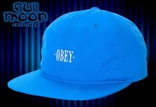 New Obey Courtland Blue Six Panel Mens  Strapback Cap Hat