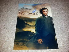 "POLDARK PP CAST X2 SIGNED 12""X8"" A4 PHOTO POSTER AIDAN TURNER ELEANOR TOMLINSON"
