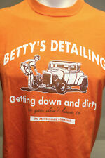 ABERCROMBIE & FITCH ORANGE T SHIRT BETTY'S DETAILING S
