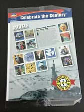 CELEBRATE THE CENTURY 1970'S SHEET, 33 CENT USA STAMPS (15 Stamps)