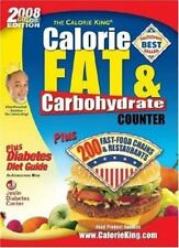 NEW - 2008 Calorie King Calorie, Fat & Carbohydrate Counter