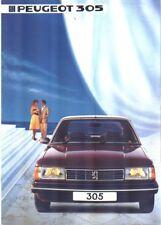 PEUGEOT 305 BROCHURE 9/1983