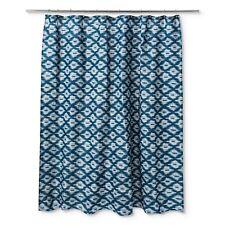 "Ikat Textured Shower Curtain Galazy Blue - Thresholdâ""¢"