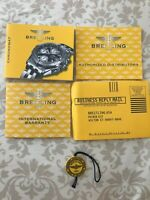 Vintage Breitling Chronomat Watch Papers, Complete Set, Instructions + Hang Tag