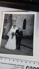 Vintage black and white Wedding photo. Bride. Undated.