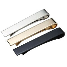 3PCS Set Mens Steel Slim Skinny Regular Ties Necktie Clasp Pin Tie Clip Bar Gift