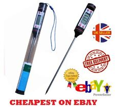 Digital Food Thermometer Probe Temperature Kitchen Cooking BBQ Meat Turkey UK **