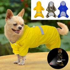 Dog Raincoat Waterproof Pet Rain Coat Clothes Reflective Hoodie Outfit Apparel