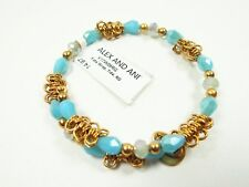 ALEX and ANI Russian Gold Tone Fate Tide Wrap Bracelet with Charms