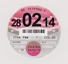 Private Car Tax Disc Nissan 28-02-14