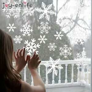 Christmas Snowflake Window Stickers For Wall Decor New Year Wall Sticker