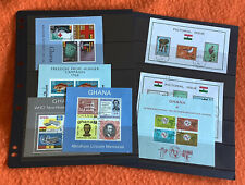 More details for small collection used very fine/superb ghana mini sheets 1963-66 free p&p ref g7
