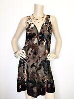 New Free People Medium Sheer Velvet Floral Burnout Slip Tank Dress Sleeveless