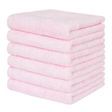 "6 Pack Newborn Washcloths bamboo fiber Soft Baby Face Towel Set Size 10""x10"""