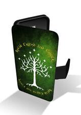 White Tree Gondor Speak Friend Moria Gandalf Ring Wallet Leather Phone Case
