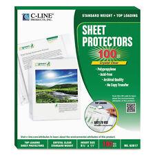 "C-Line Sheet Protectors Clear Polypropylene 2"" 11 x 8 1/2 100/BX 62617"