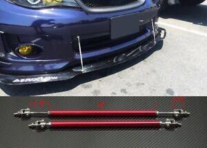 """Red 4""""-7"""" Struts Supports Rod Bar for Subaru Mazda Bumper Lip Diffuser Spoiler"""