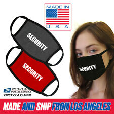 Essential Service Security Guard Cotton Washable Reusable Face Mask MADE IN USA