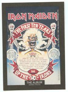 Iron Maiden Album sticker insert Brockum RockCards 1991