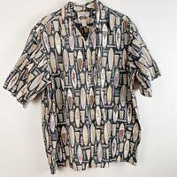 RARE Reyn Spooner Art of Eddy Y Menʻs Surfboard Hawaiian Shirt Sz XXL