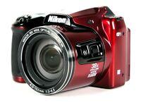 Nikon COOLPIX L840 16MP Digital Camera Zoom 38x Optical, 76x Digital, 1080p HD