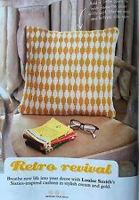 KNITTING PATTERN Fair Isle Patterned Cushion Cover 160's Retro Design PATTERN