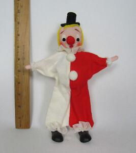 "VINTAGE 1950s 60s CHRISTMAS CLOWN FIGURE 9 1/2"" TALL MADE IN JAPAN FELT"