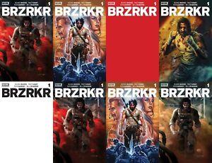 BRZRKR #1 1:25 VARIANT COVER SET OF 8 KEANU REEVES BROOKS BERZERKER BOOM COMIC