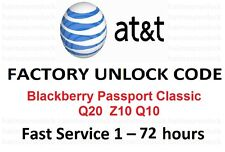 AT&T UNLOCK CODE BLACkBERRY PASSPORT CLASSIC BB Q20  Z10 Q10 Q30 PRIV