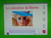 Calendrier 1991 - Barbie - 40 x 30 - 14 pages