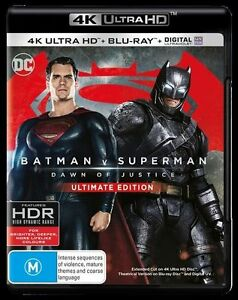 Batman V Superman - Dawn Of Justice (Blu-ray, 4K Ultra HD, 2-Disc Set) NEW SEALE