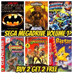 SEGA MEGADRIVE GENESIS GAME POSTCARDS Vintage Retro Game Mini Posters Box Art A6