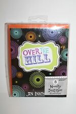 OVER THE HILL 30th Birthday Party 16 Invitations Envelopes Spiral New Amscan