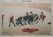 """""""JUAN MOLINA et DOMINGUIN"""" Affiche originale entoilée LA LIDIA 1899  R. ESTEBAN"""