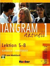 Hueber TANGRAM AKTUELL 1 Kursbuch+Arbeitsbuch Lektion 5-8 + CD Niveau A1/2 @NEW@
