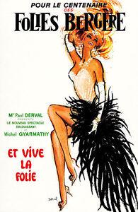 Folies Bergere 1969 Vintage A2 High Quality Canvas Print