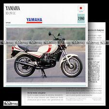#029.10 YAMAHA RD 350 LC 1980 (350 RDLC) Sport bike Fiche Moto Motorcycle Card