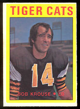 1972 OPC O PEE CHEE CFL FOOTBALL #1 BOB KROUSE NM HAMILTON TIGER CATS MCMASTER