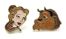 Beauty And The Beast Faces Metal Stud Earrings